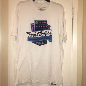 ♦️EUC♦️Pink Dolphin White T-shirt
